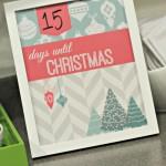 Vintage Woodland Christmas Countdown Printable