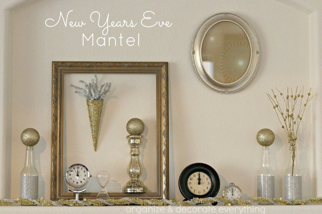 New Years Eve mantel.1