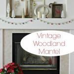 Vintage Woodland Mantel