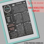 Family Newsletter Template – Printable Contributor