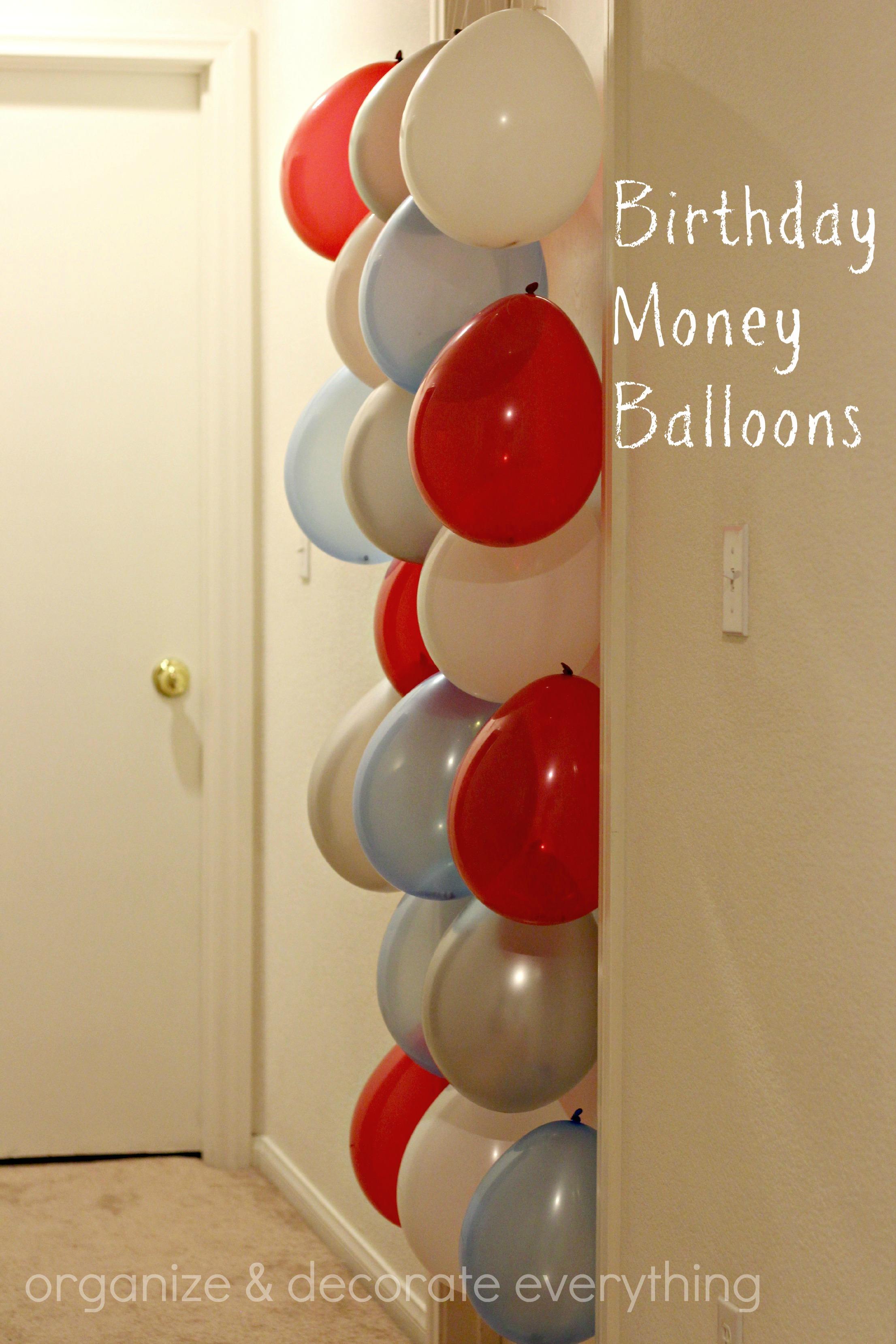 Money Gift Balloons Happy Birthday