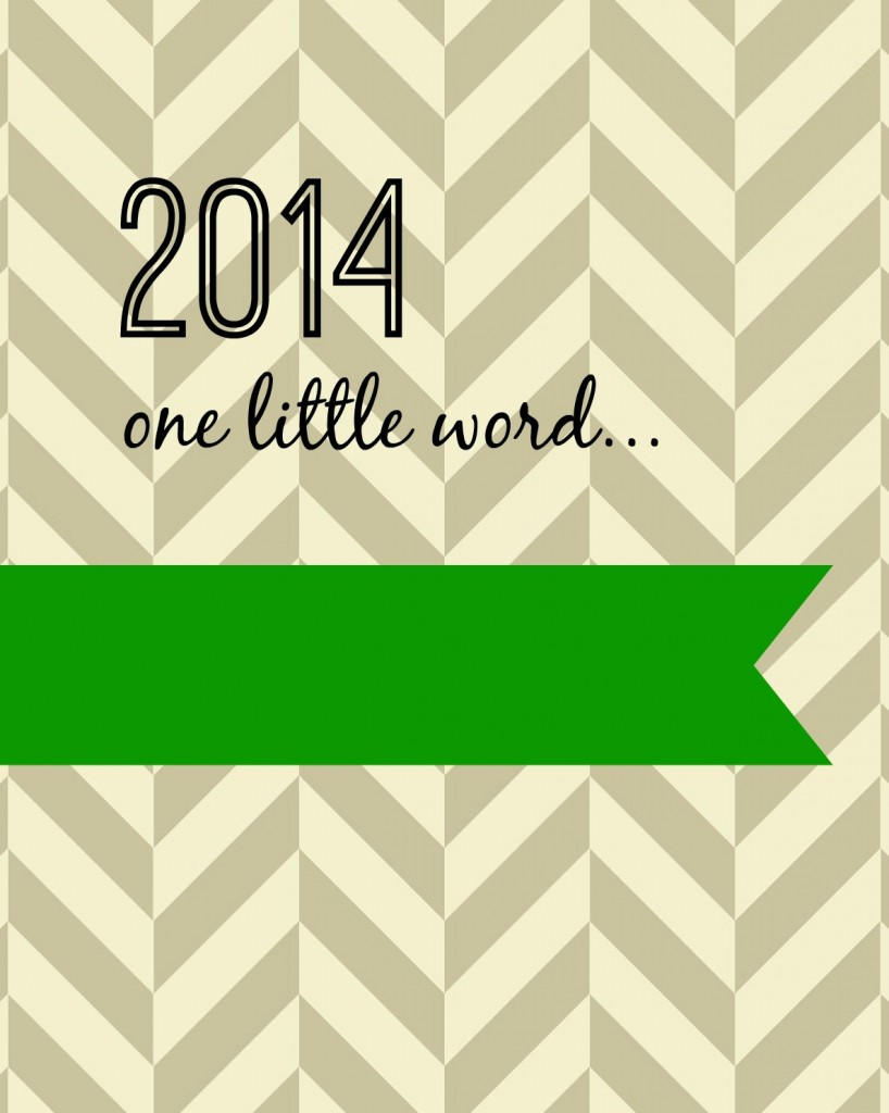 2014 one little word green
