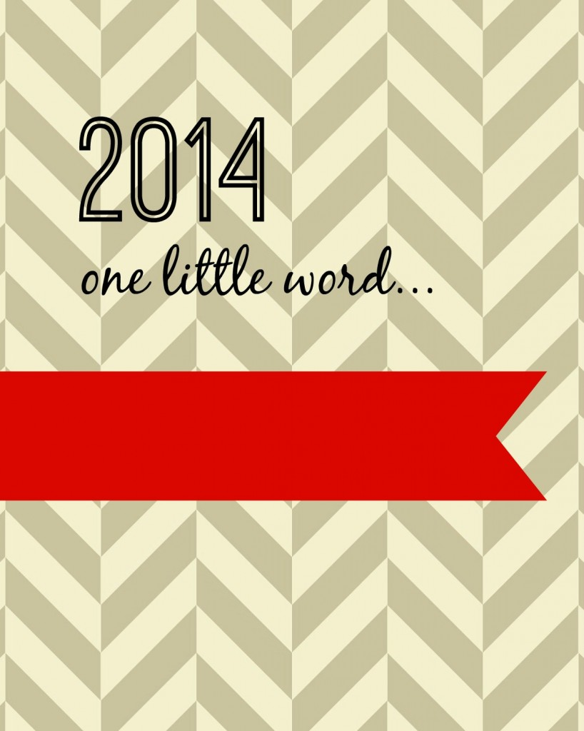 2014 one little word red