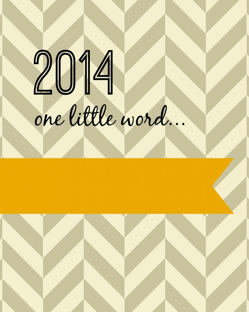 2014 one little word yellow