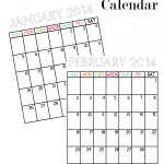 14 Printable Calendars for 2014