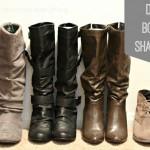 DIY Boot Shapers
