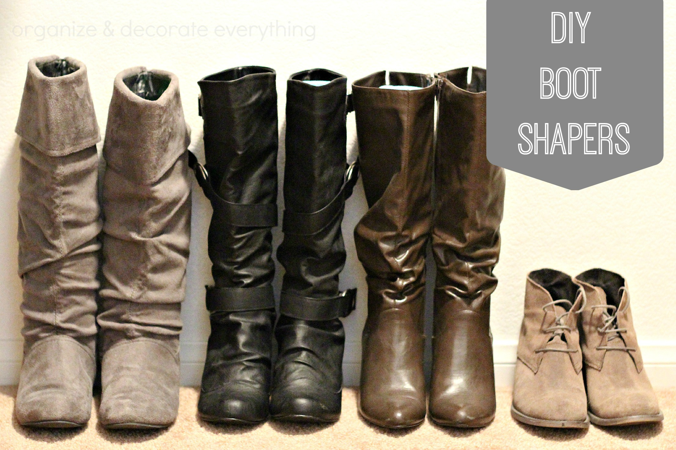 Diy boot shapers organize and decorate everything diy boot shapers solutioingenieria Images
