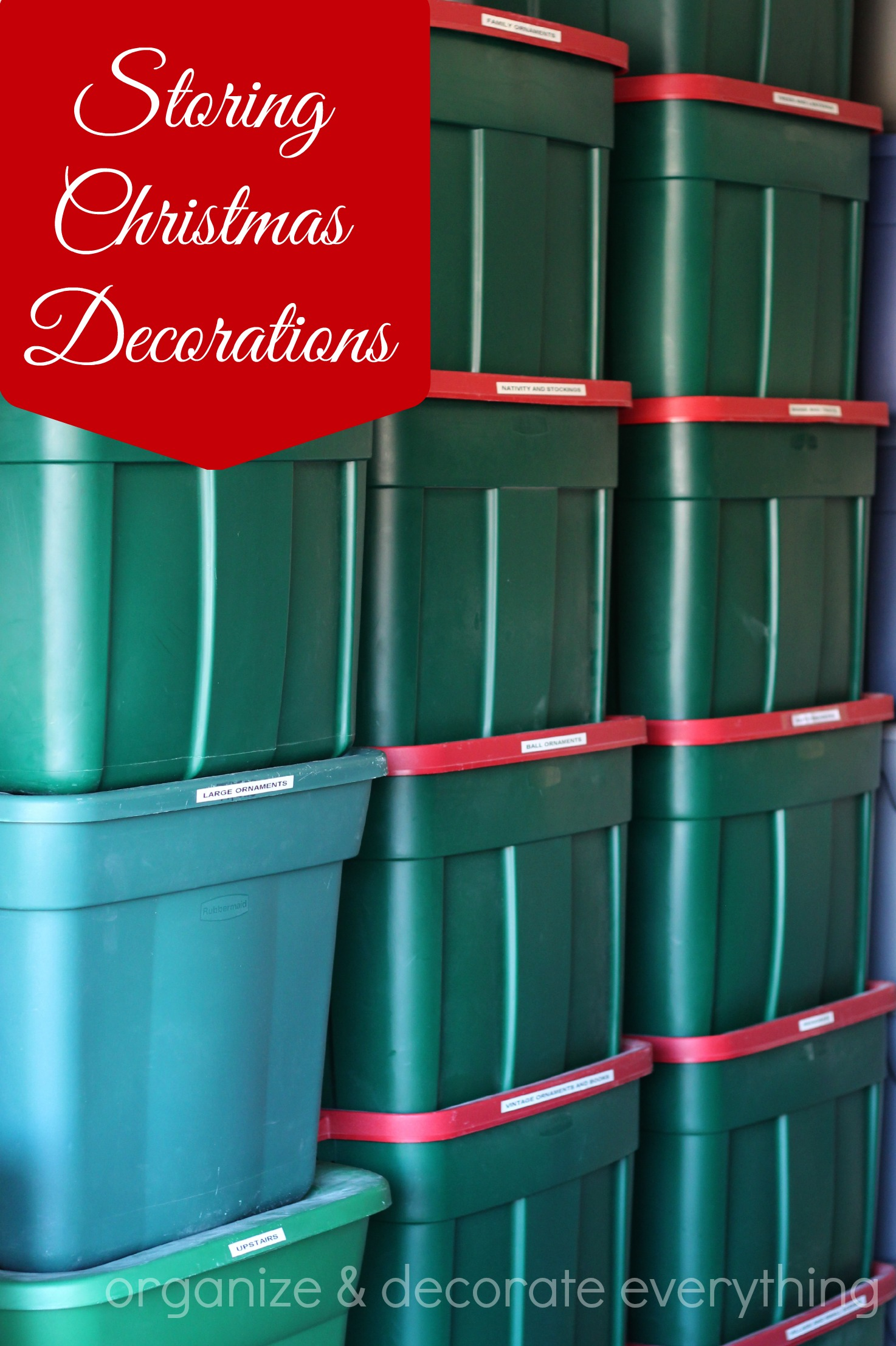storing christmas decorations - Organizing Christmas Decorations