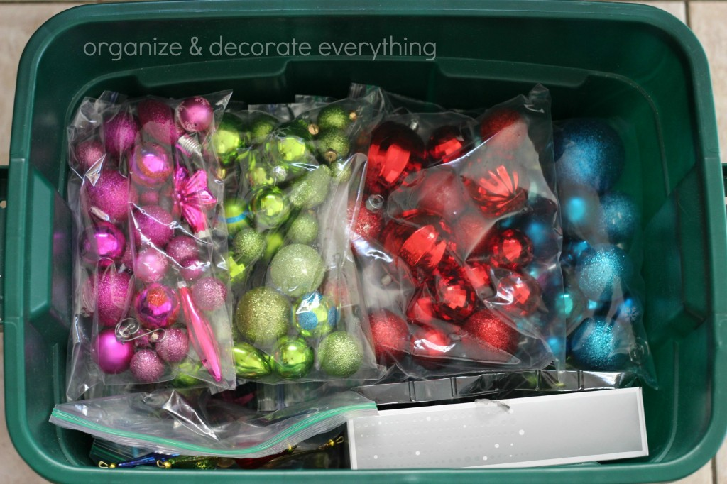 Storing Christmas Decorations 5.1