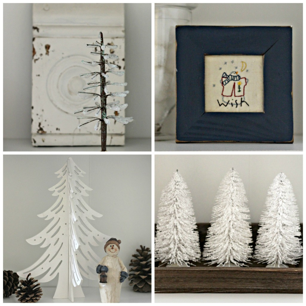 Winter decor collage