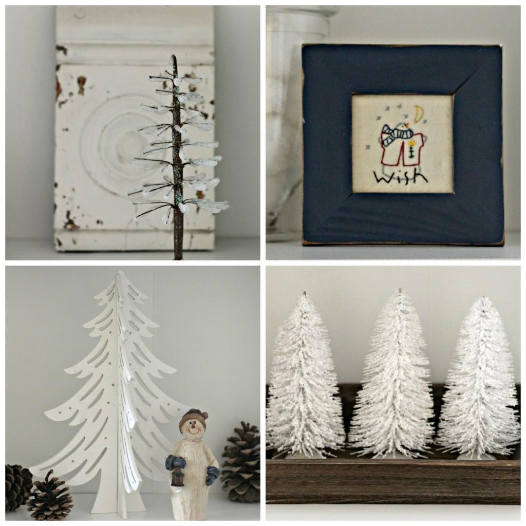 Winter decor collage