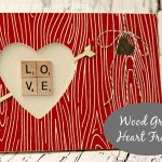 Faux Wood Grain Heart Frame