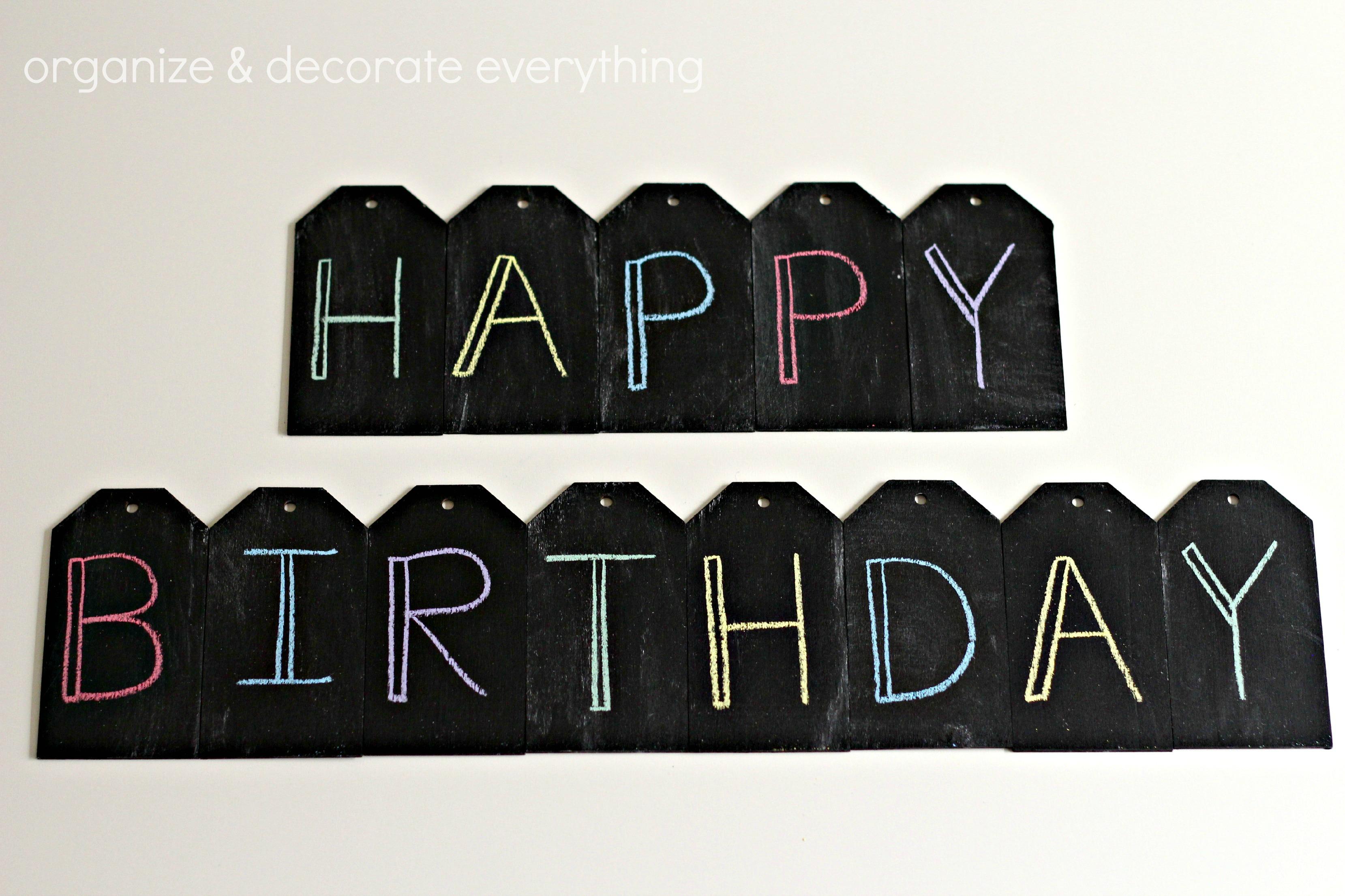 Birthday Chalkboard Banner 51