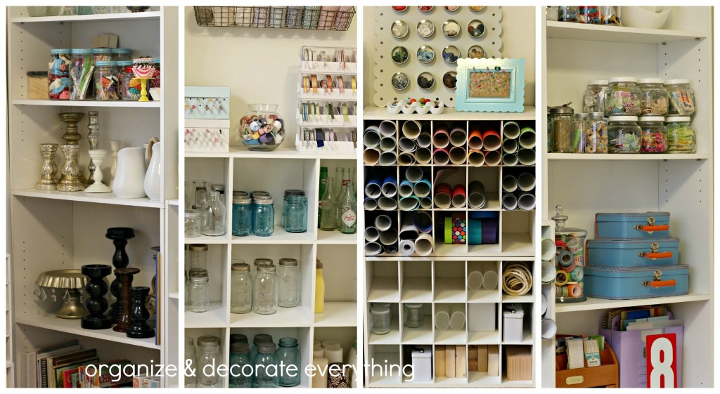 craft room tour bookcases