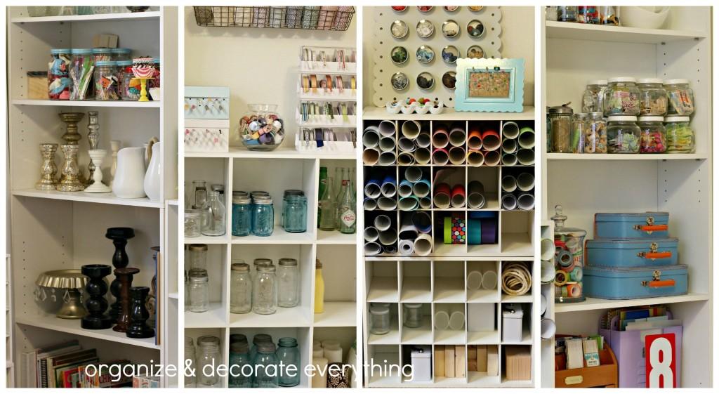 craft room tour bookcases