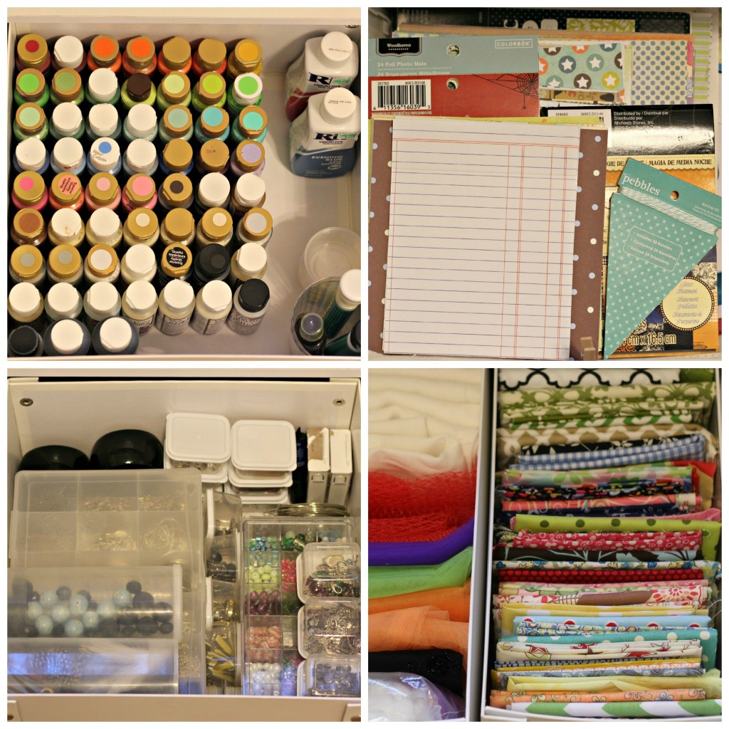 craft supplies drawers