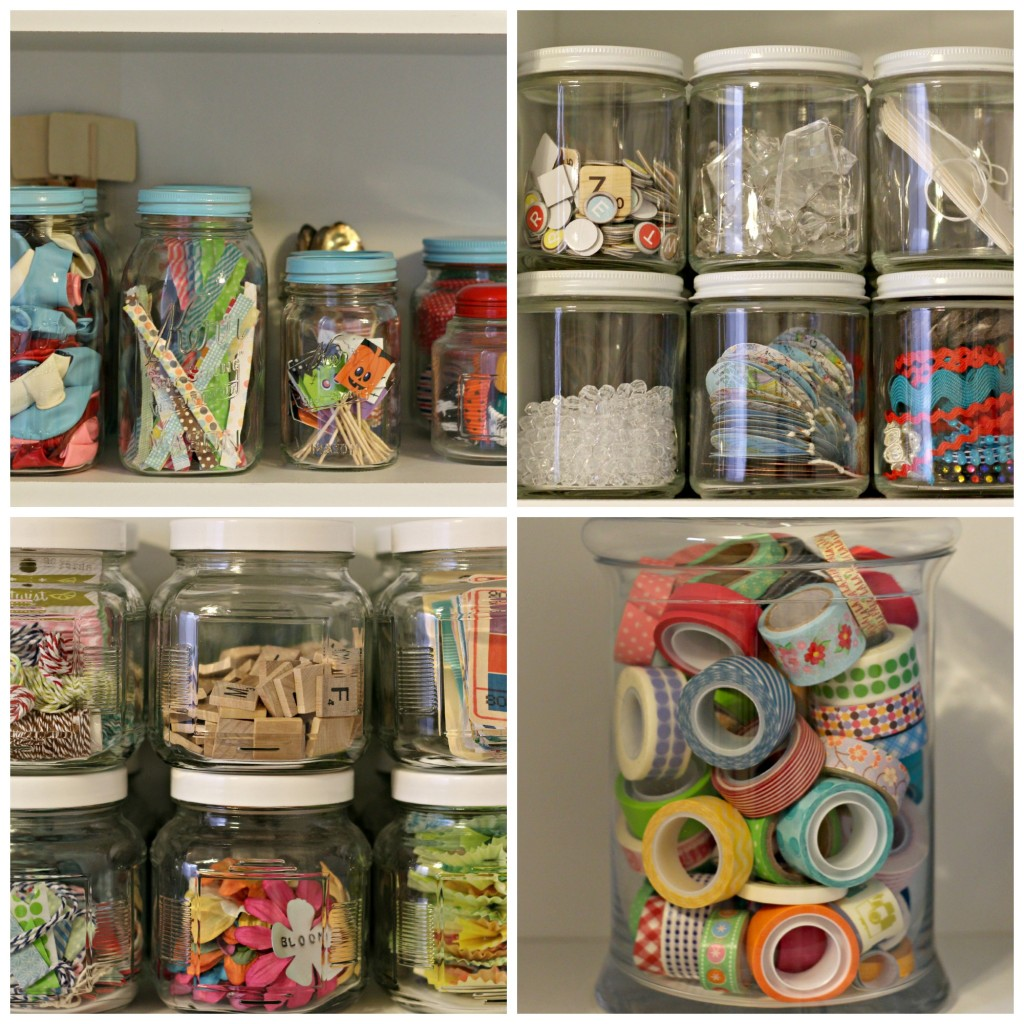 craft supplies jars
