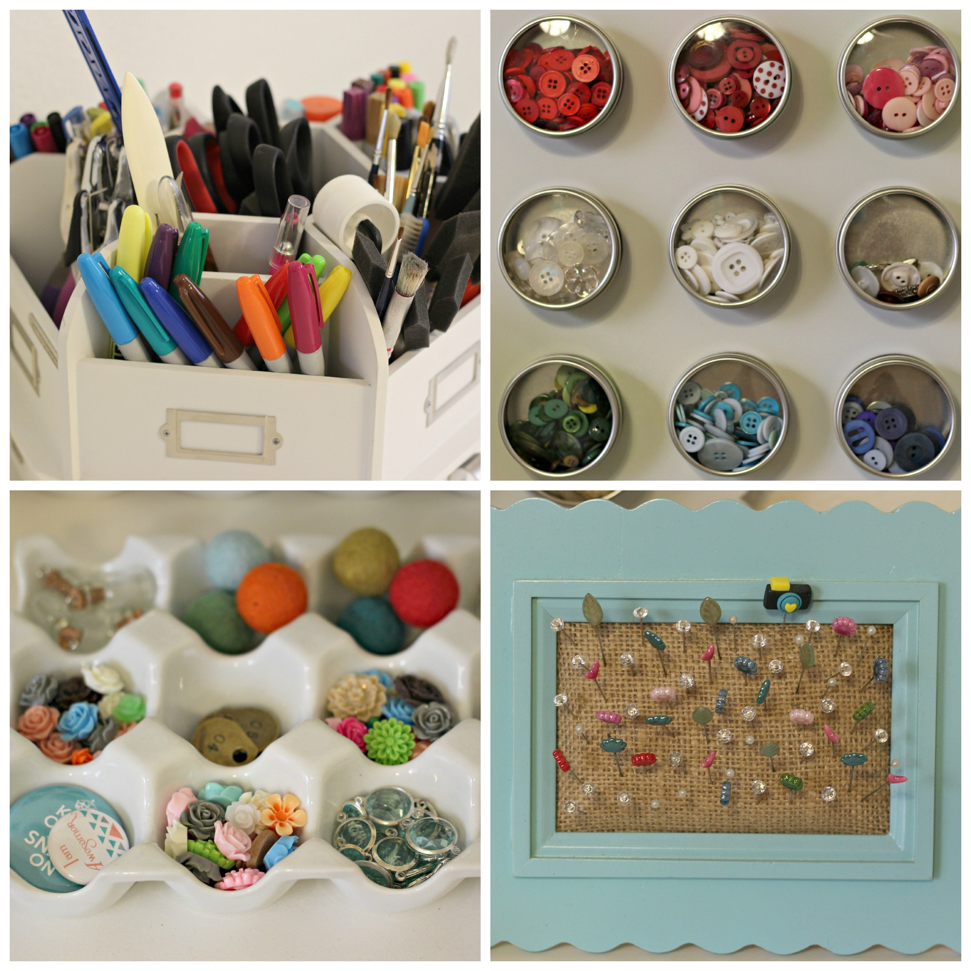 Craft supply storage containers - Craft Supplies Small Items