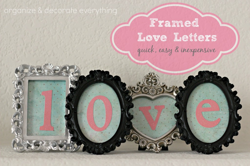 Framed Love Letters