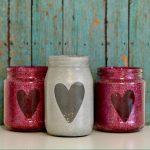 Glitter Heart Jars