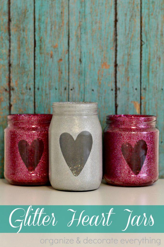 glitter heart jars 1
