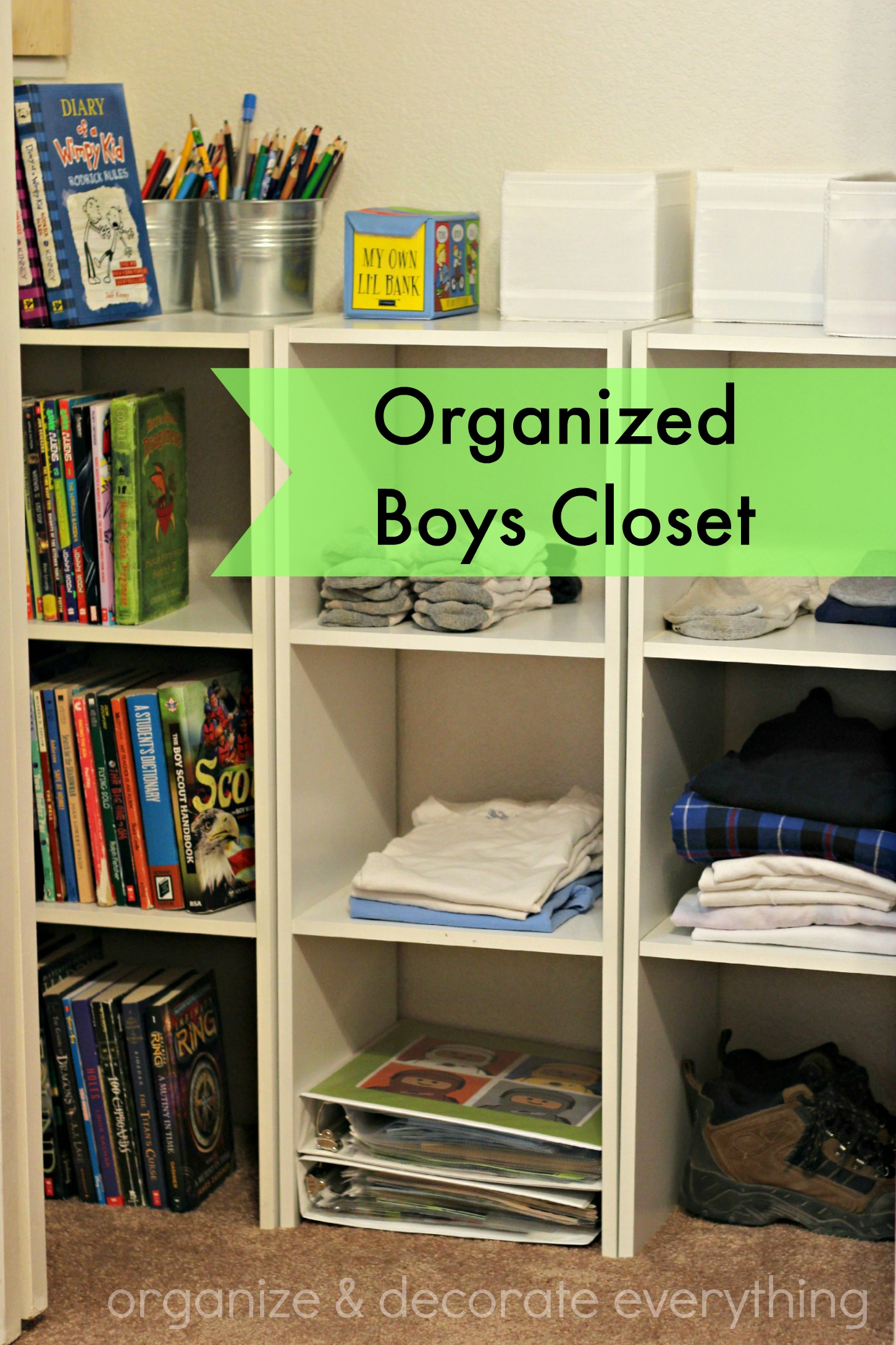 Organized boys closet organize and decorate everything for How to organize your room and closet