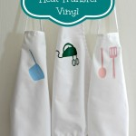 Children's Aprons using Heat Transfer Vinyl