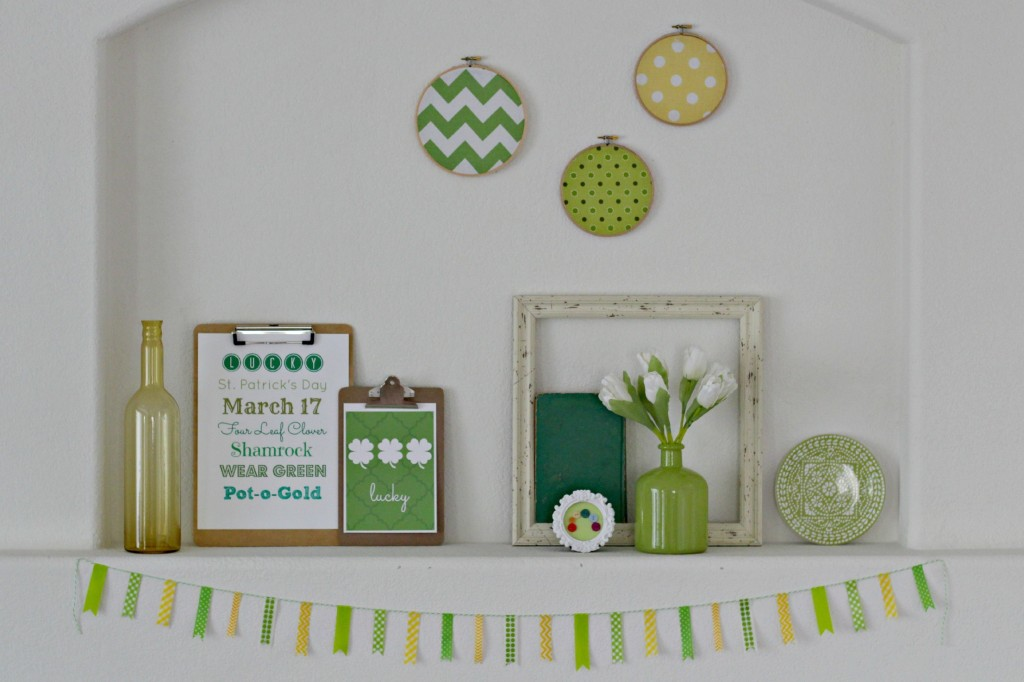 Green & Yellow St. Patrick's Day Mantel