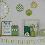 Green and Yellow St. Patrick's Day Mantel