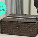 Shaver Basket for Bathroom Counter
