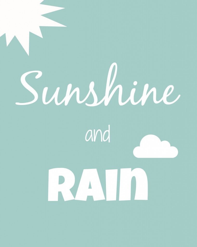sunshine and rain
