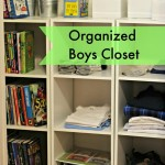 Organized Boys Closet