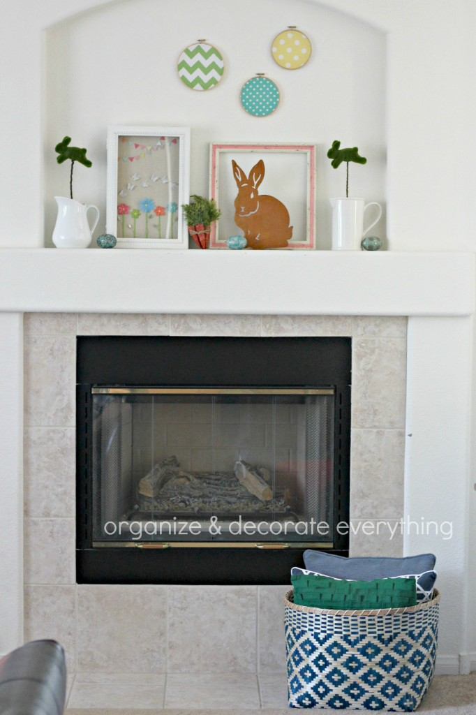 Colorful Easter Mantel 2.1