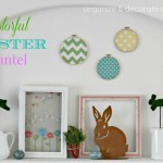 Colorful Easter Mantel