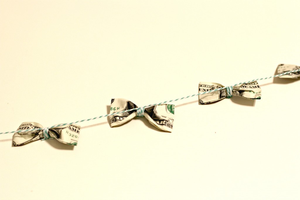 Dollar Bow Garland