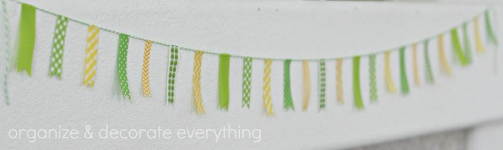 Green & Yellow St. Patrick's Day Mantel 7.1