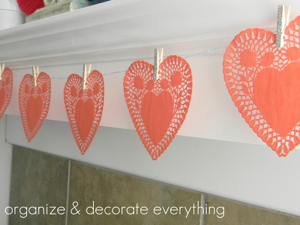 Valentine's Day Mantel 5text