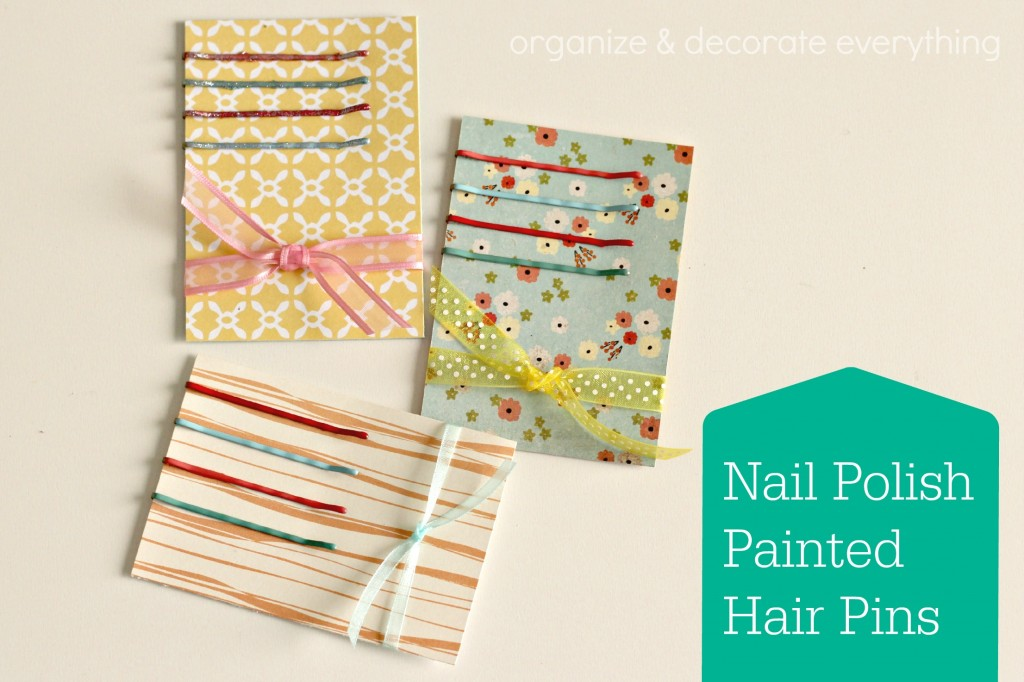 nail polish painted hair pins 3.1