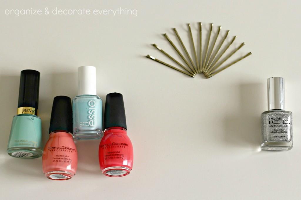 nail polish painted hair pins 4.1