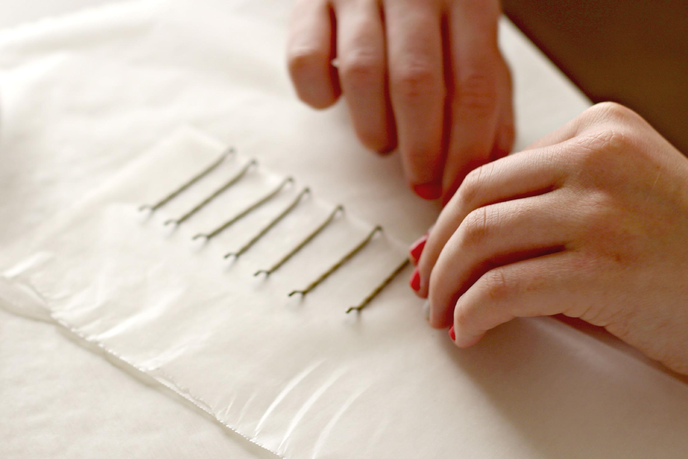 Emilee likes    Nail Polish Painted Hair Pins - Organize and