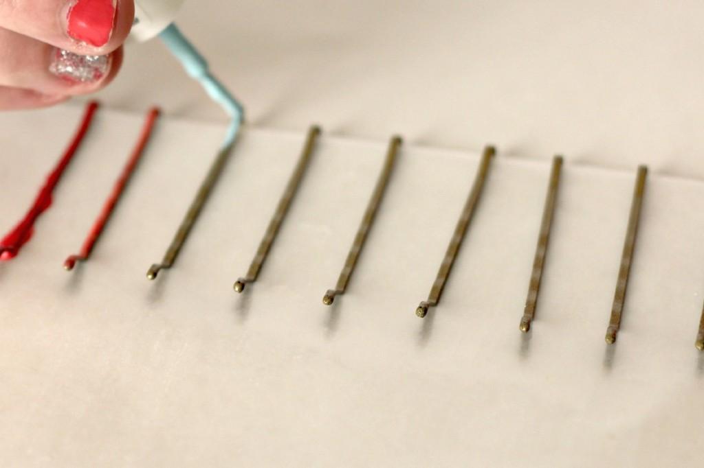 nail polish painted hair pins 6