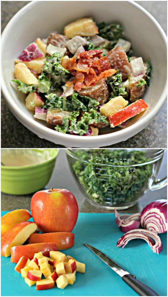 Apple Kale Potato Salad