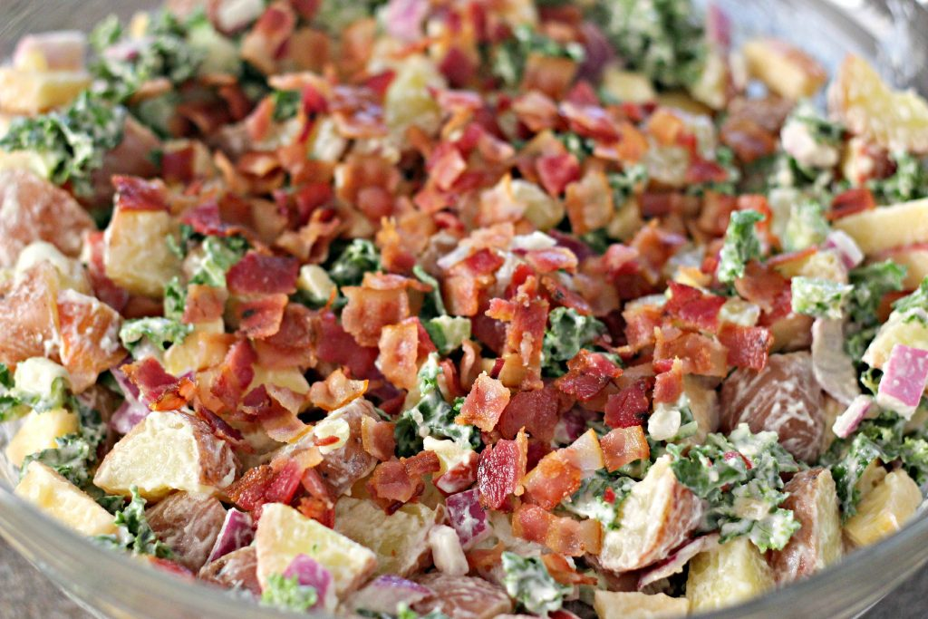 Kale & Apple Potato Salad - Organize and Decorate Everything