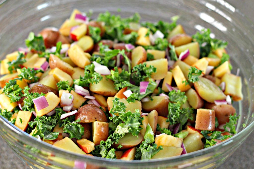 Apple Kale Potato Salad without dressing