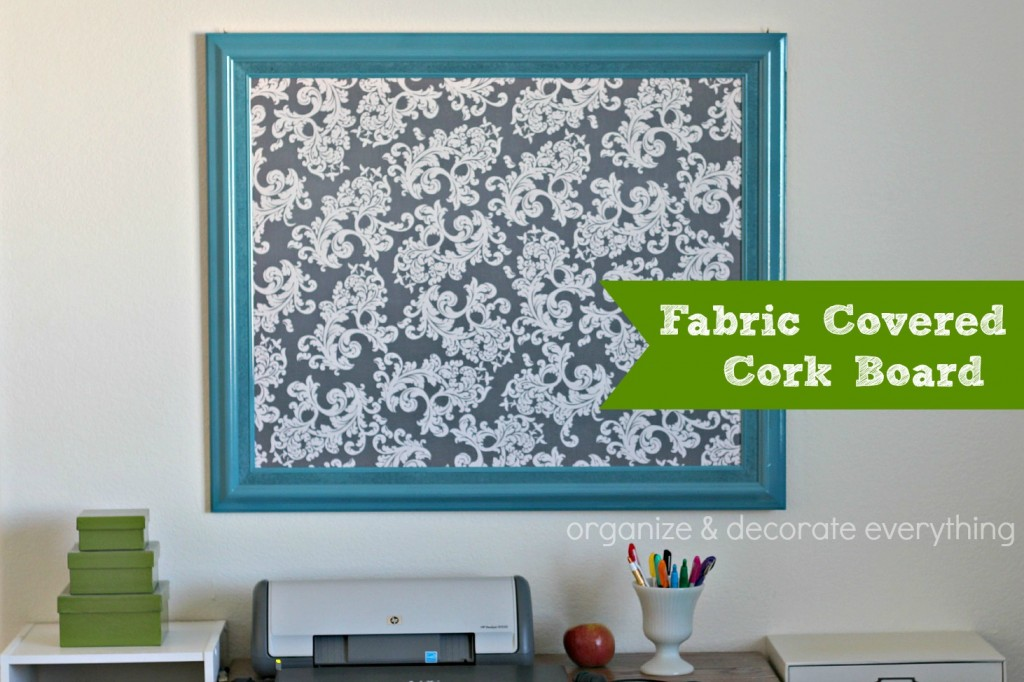 Fabric Covered Cork Board 2.1