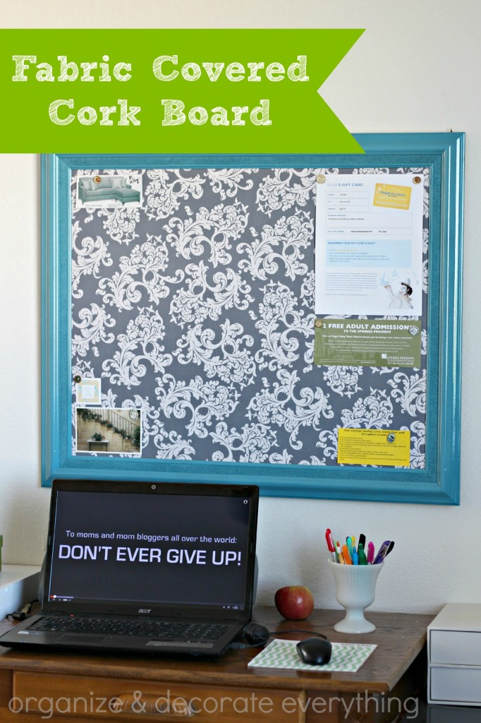Fabric Covered Cork Board 3.1