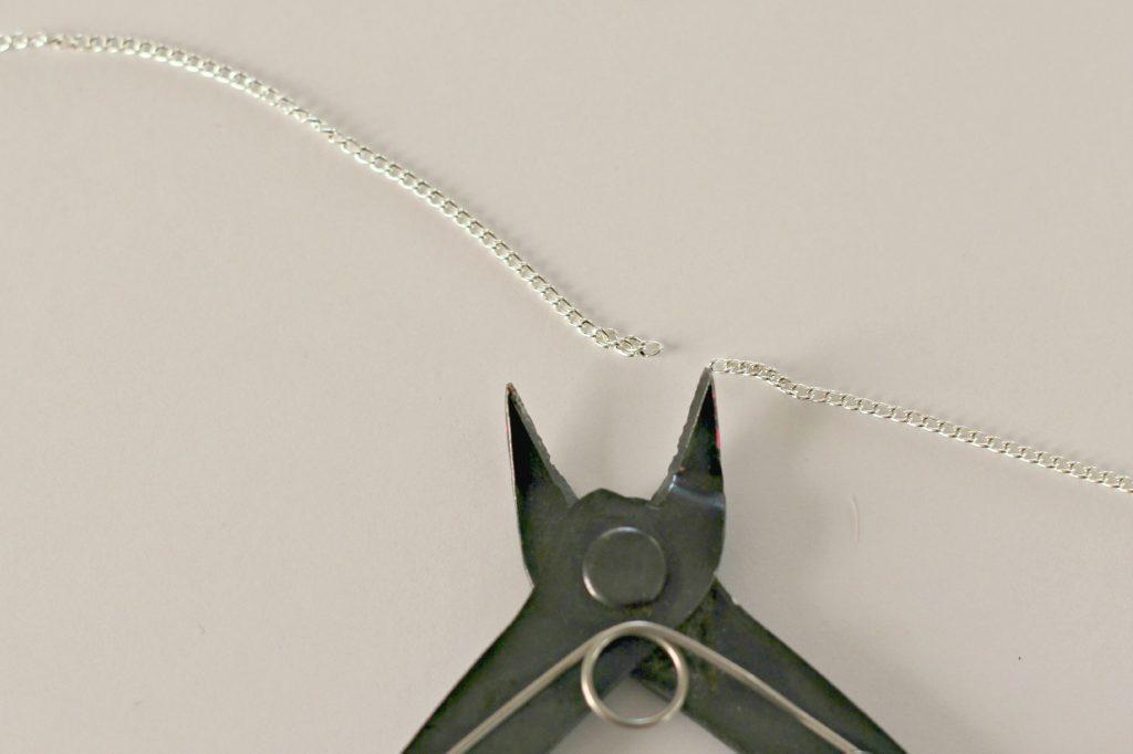 glitter necklace chain