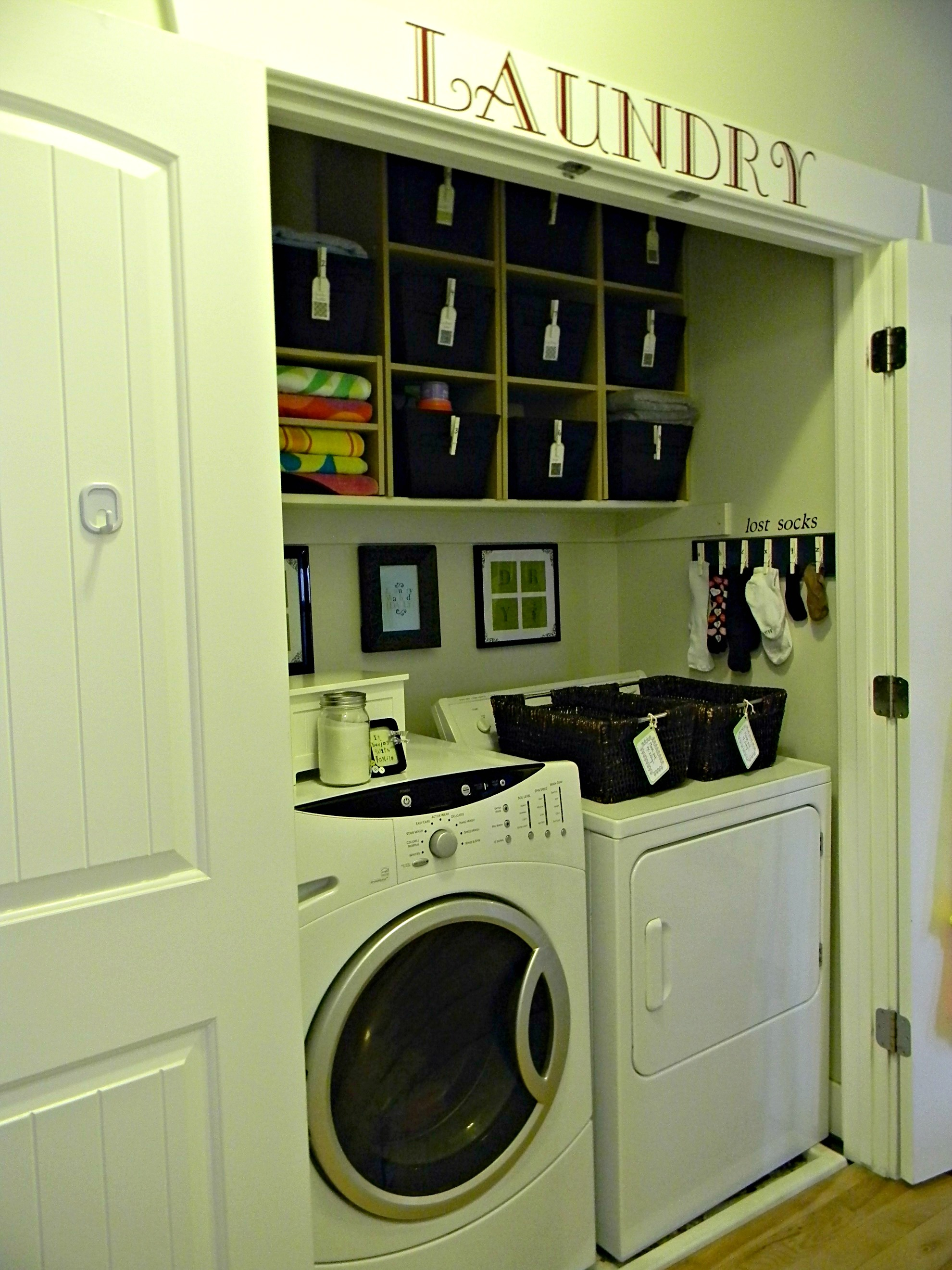 10 organized spaces around the house organize and - Laundry room organizing ideas ...