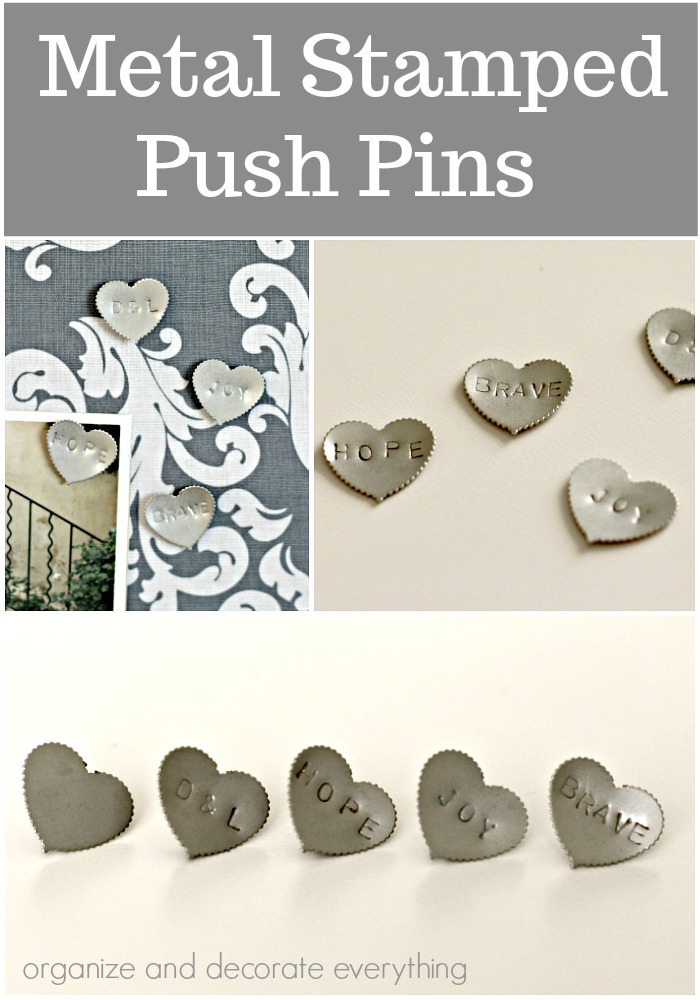 Metal Stamped Push Pins quick craft