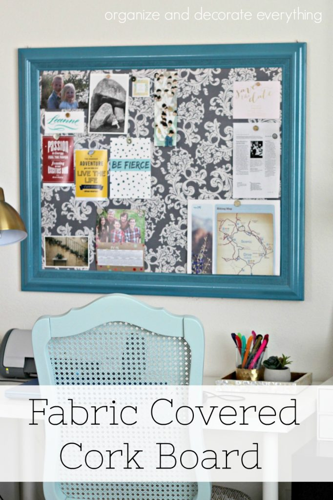I Ve Been Wanting A Fabric Covered Cork Board And This Frame Was The Perfect Size To Fit Over My Bedroom Desk Area